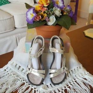Teva Ventura Metallic Leather Wedge Sandals